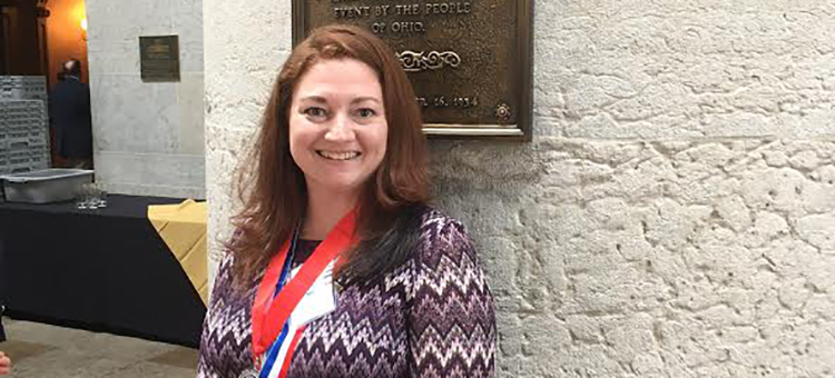 Rachael Howard, WSCC PTK member honored at statehouse