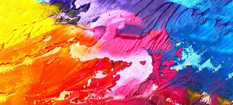 Paint Art Abstract Background Texture Colorful