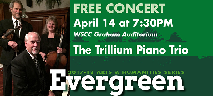 The Trillium Piano Trio to perform at Evergreen Arts & Humanities series