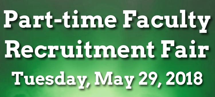Part-time faculty recruitment fair