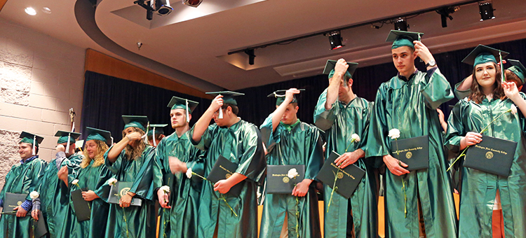 WSCC celebrated its students' success with two commencement ceremonies last week. In total the College granted 254 associate degrees and 76 one-year certificates to a group of 287 students, 29 of whom were College Credit Plus high school seniors.