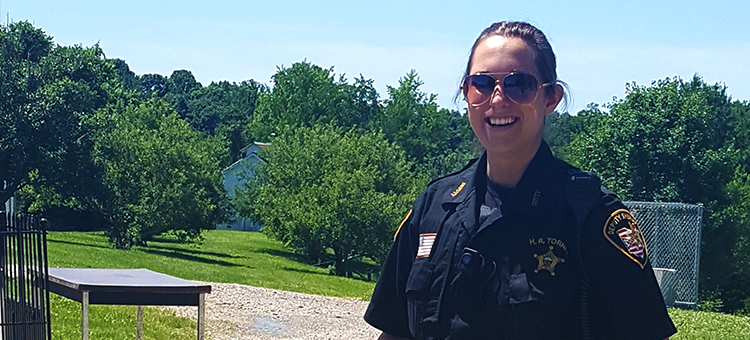 Washington County Sheriff's Deputy Hannah Tornes on the job.