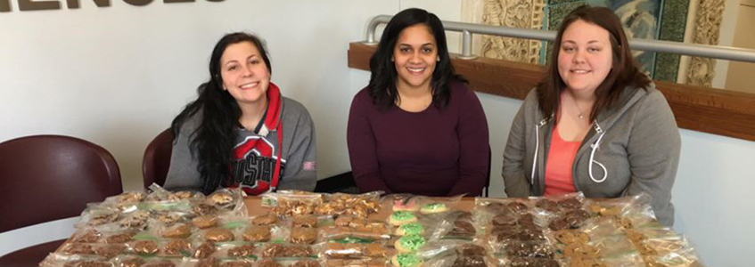 Social Services Club bake sale