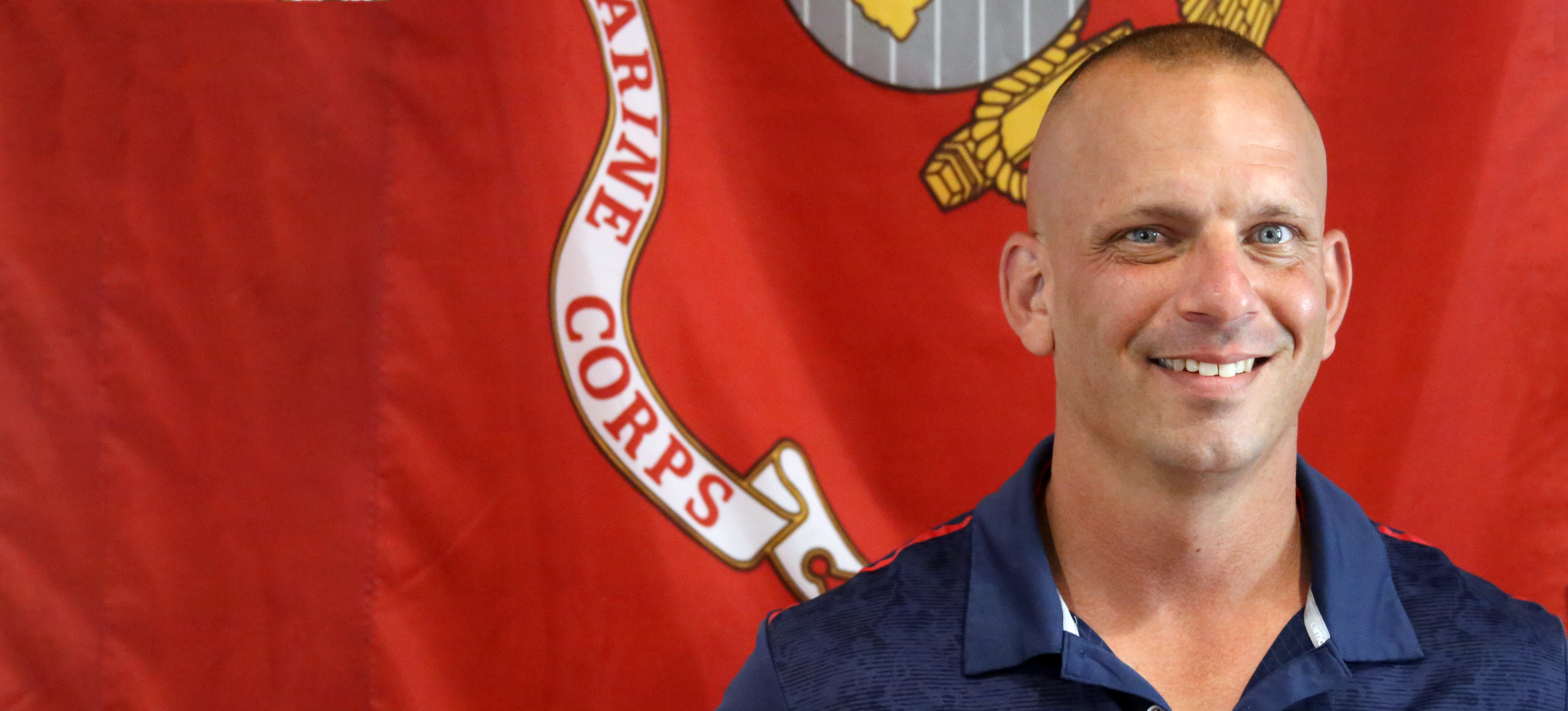 Bill Allen, retired Marine, is a stand-out student in the classroom at WSCC.
