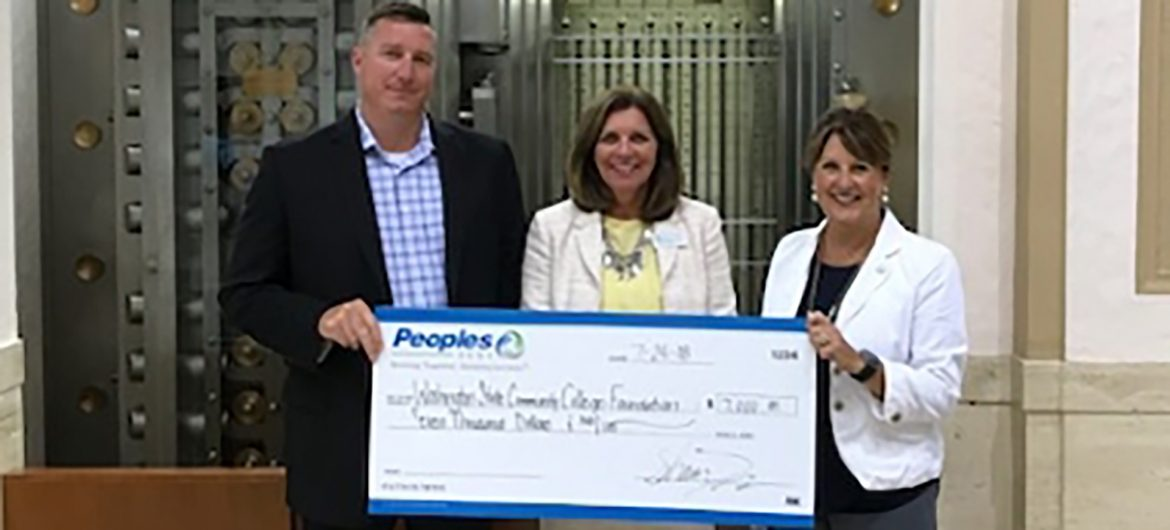 Peoples Bank recently established a new $60,000 scholarship fund through the Washington State Community College Foundation. The fund was created to help deserving students achieve their academic and career goals.