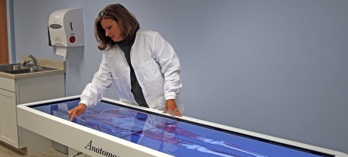 Washington State Community College recently purchased a unique piece of innovative equipment that will bring anatomy classes to life. The Anamotage Table is a technologically advanced anatomy visualization system.