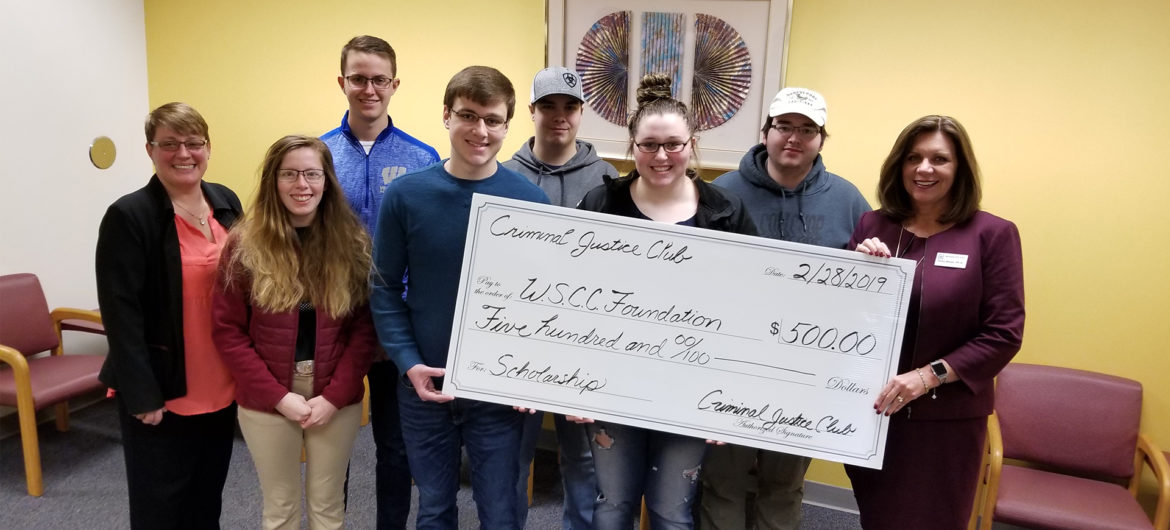 The Washington State Community College Criminal Justice Club recently established a scholarship with the WSCC Foundation.