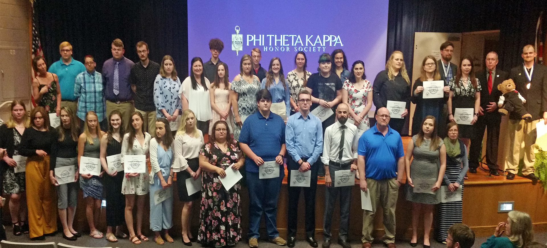 The Alpha Rho Gamma chapter of the national honor society of community colleges Phi Theta Kappa (PTK) at Washington State Community College (WSCC) recently held an induction ceremony