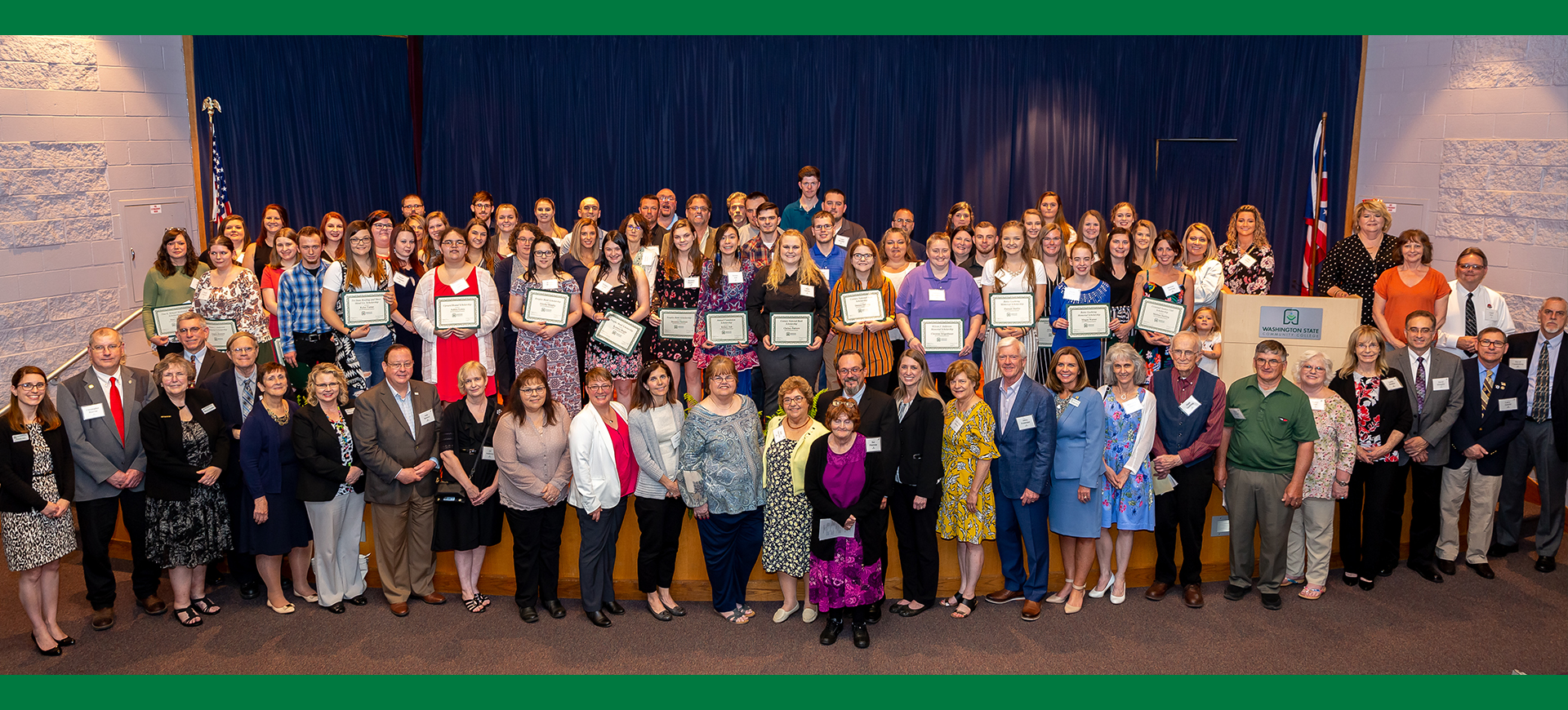 he Washington State Community College (WSCC) Foundation recently recognized both donors and scholarship recipients at the annual Foundation Scholarship Awards Ceremony. The event recognized 91 students who will benefit from Foundation awards in the 2019-20 academic year.
