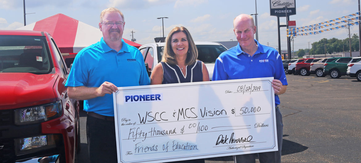 Dick Nourse, owner of Pioneer Family Auto, recently made a $50,000 contribution that will positively impact students from elementary school through college.