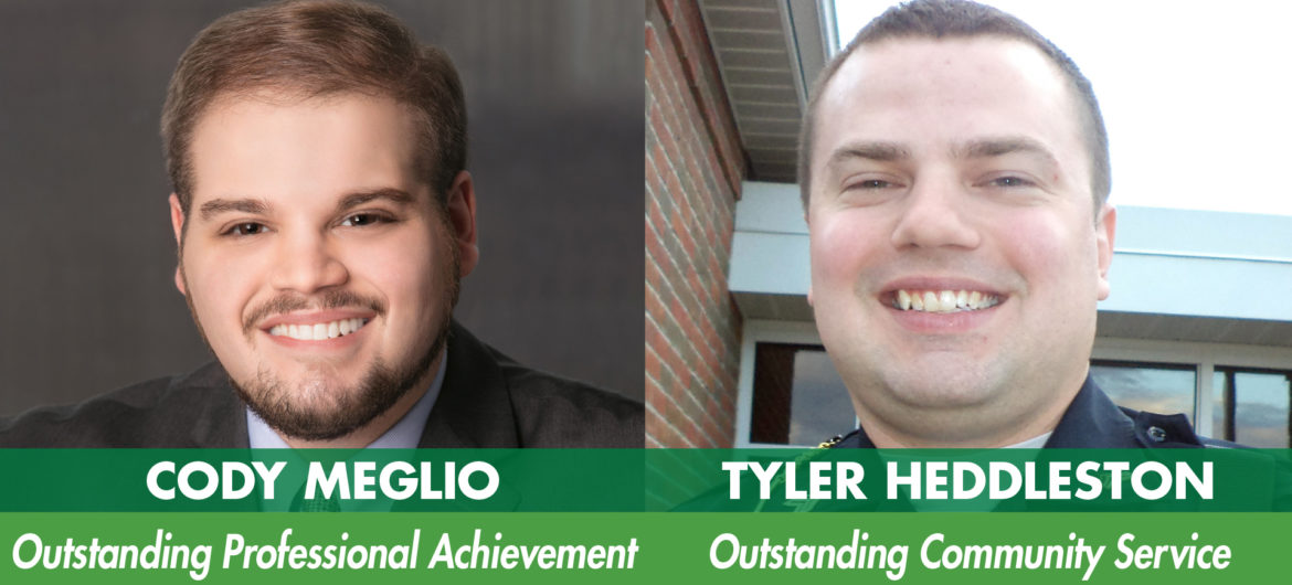 The Washington State Community College (WSCC) Foundation honored Cody Meglio and Tyler Heddleston as the 2019 WSCC Distinguished Alumni during its annual banquet. The Distinguished Alumni awards are presented annually to graduates who exhibit the qualities of community and professional leadership that represent the mission and goals of the College.