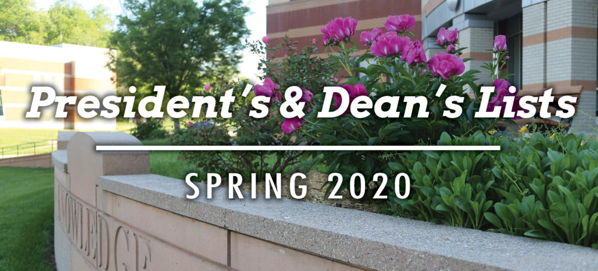 Washington State Community College is pleased to recognize the students who have earned a place on the President's and Dean's lists for the 2020 Spring semester.