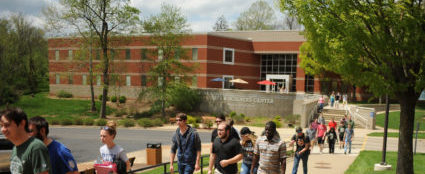 WSCC Campus with students